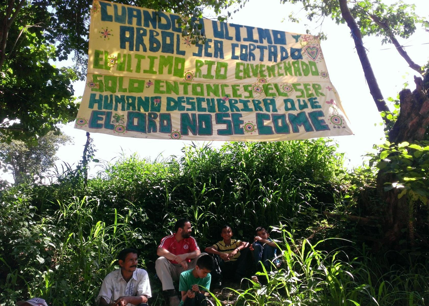 Protest camp at La Puya, Guatemala
