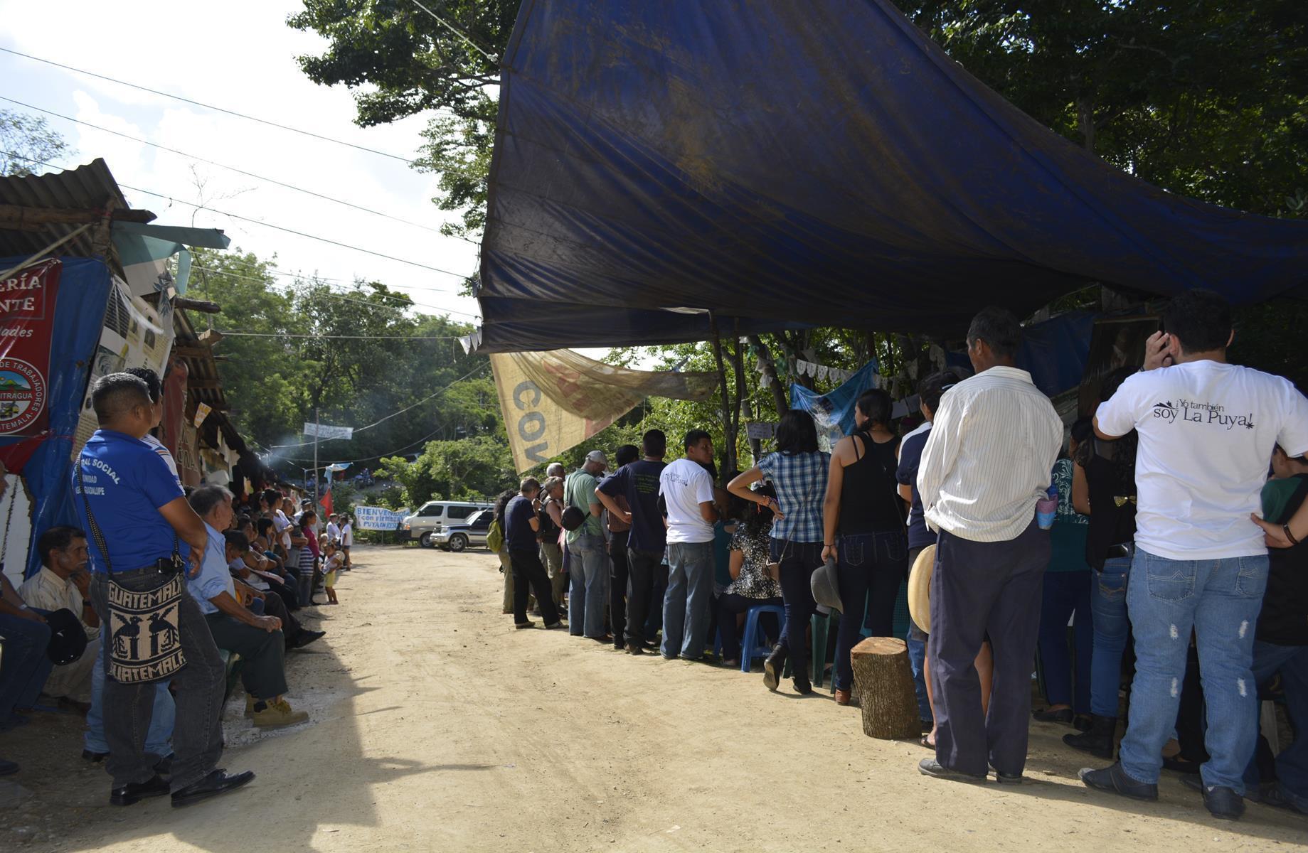 The camp at La Puya