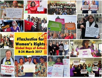 TaxJustice for WomensRights campaña montaje pequeño