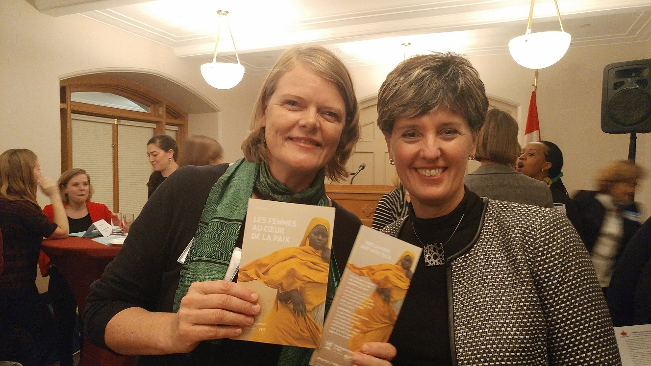 Elana Wright with Minister Bibeau  © Development and Peace
