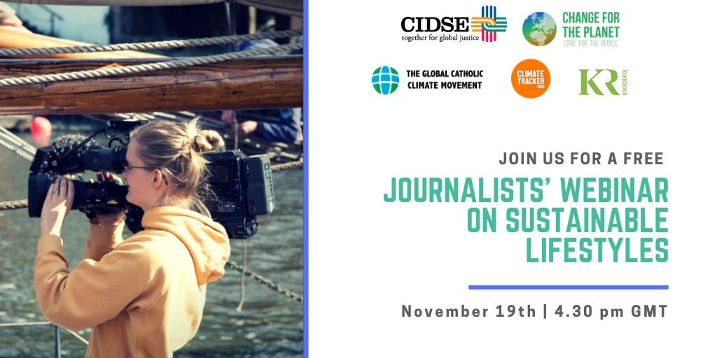 Journalists webinar on sustainable lifestyle