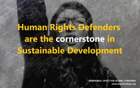Maryknoll Human Rights Defenders meme