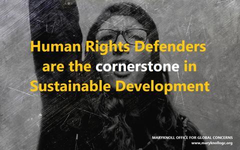Meme dos Defensores dos Direitos Humanos da Maryknoll